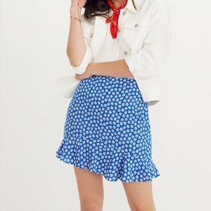 New [ Madewell ] Floral ruffle edge skirt 8
